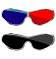 anaglyph glasses vector image
