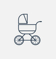 baby carriage line icon vector image