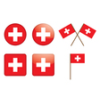 badges with Swiss flag vector image vector image
