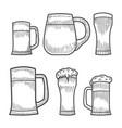 beer glass wooden mug vector image vector image