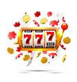 big win slots 777 banner casino background vector image vector image