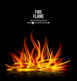bonfire on black background realistic vector image vector image