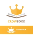 book and crown logo concept vector image vector image