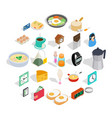 brew icons set isometric style vector image