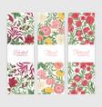 bundle vertical floral banner templates vector image vector image