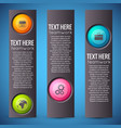 business infographic vertical banners vector image vector image
