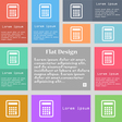 Calculator icon sign Set of multicolored buttons vector image vector image