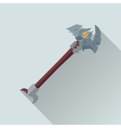 Cartoon Beardy Axey Game Sword vector image vector image