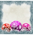 Christmas card with balls EPS 8 vector image