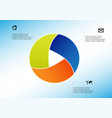 circle divided to three parts filled color vector image vector image