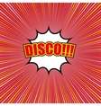 Comic disco template vector image vector image