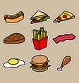 cute food icon sticker vector image vector image
