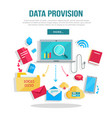 data provision banner vector image vector image