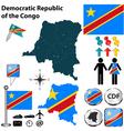 democratic republic congo map vector image