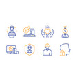 engineer manager and online chemistry icons set vector image vector image