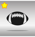 football black icon button logo symbol vector image vector image