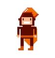 game warrior pixelated icon vector image