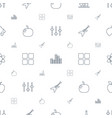 geometric icons pattern seamless white background vector image vector image