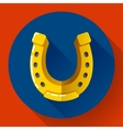 Golden Horseshoe icon Flat design style vector image vector image