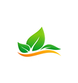 green leaf eco environment logo vector image vector image