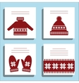 Greeting Card Winter wool knotted clothes with vector image vector image