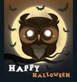 halloween poster owl vector image vector image