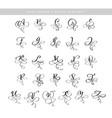hand drawn calligraphic flourish letters