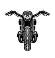 hand drawn motorcycle isolated on white vector image