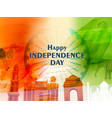 happy independence day concept with famous