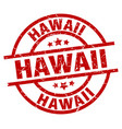 hawaii red round grunge stamp vector image vector image