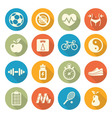 Health and Fitness icons vector image vector image