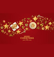 holiday new year card - 2019 on red background 4 vector image