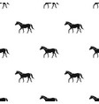 horse icon in black style isolated on white vector image