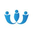 isolated teamwork logo vector image