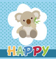 koalas cute smile and happy vector image vector image