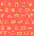 lotto signs seamless pattern background vector image