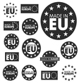 Made in European Union labels badges and stickers vector image