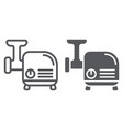 meat grinder line and glyph icon kitchen and vector image vector image