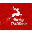 Merry Christmas greeting card Silhouette of vector image vector image
