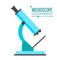 microscope icon school laboratory science vector image