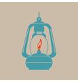 monochrome icon set with kerosene lamp vector image vector image