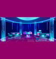 night club or bar interior design with furniture vector image vector image