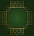 ornamental background with square crosswise frame vector image vector image