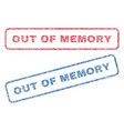 out of memory textile stamps vector image vector image