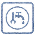 plumbing fabric textured icon vector image vector image