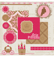 Princess Girl Birthday Set vector image vector image