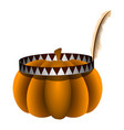pumpkin with a headband vector image