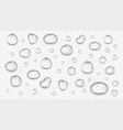 realistic transparent water drops glass sphere vector image vector image