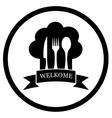 restaurant chief icon vector image vector image