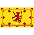 Royal Standard of Scotland vector image vector image